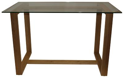 Belinda Solid Oak And Glass Home Office Desk