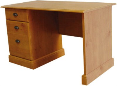 Faco Wood Workstation - Single Pedestal