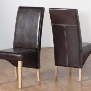 Set Of 2 Vincent Faux Leather Dining Chairs