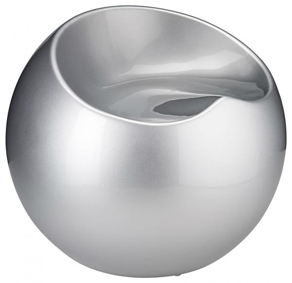 Resone Retro Ball Stool Chair Silver Modern