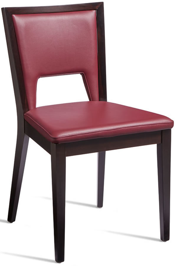 Gemini Upholstered Faux Leather Side Chair