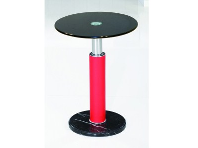 Gan Lamp Table - Round - Stainless Steel Glass And Marble