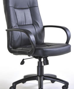 Morang Black Leather High Back Executive Office Chair