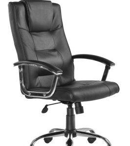 Hamp Leather Swivel Office Chair