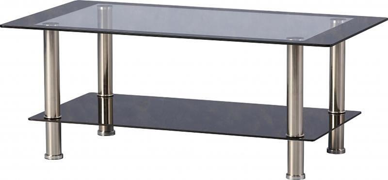 Harquin Glass Coffee Table With Glass Shelf