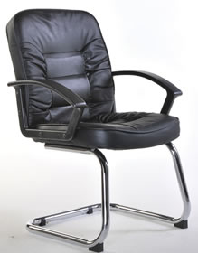 Mcall Black Leather Executive Visitor Chair