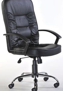Mcall Black Leather Executive Office Chair