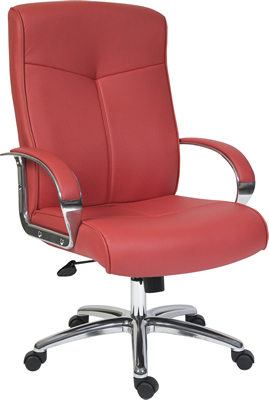 Grexikon Red Leather Faced Office Chair