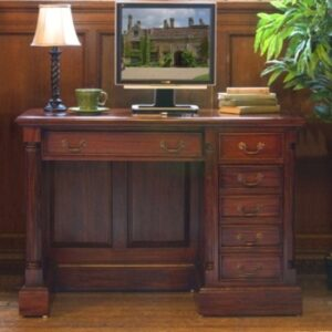 Margaret Solid Mahogany Home Office Desk - Fully Assembled