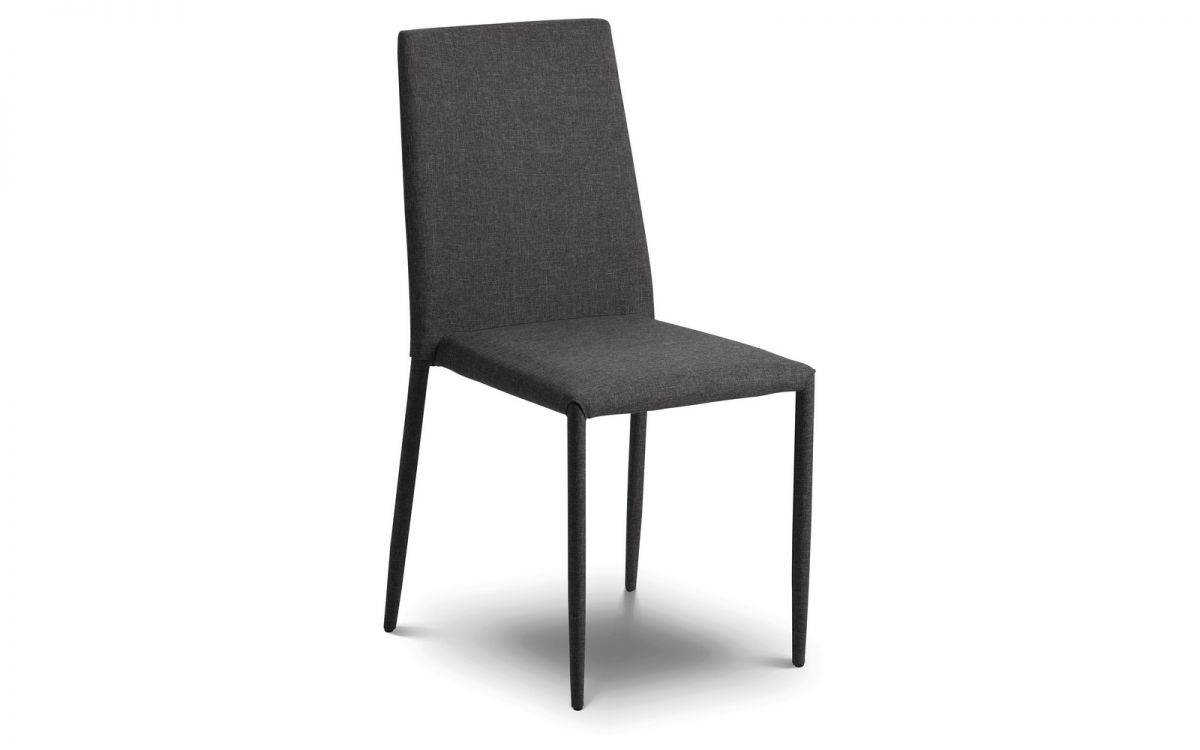 Jonef Fabric Slate Grey Modern Stylish Dining Chair - Fully Assembled And Stackable