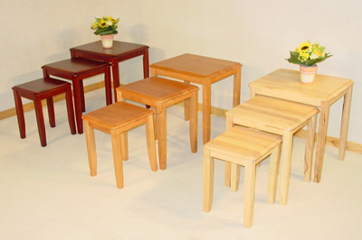 Kingtroad Wood Nest Of 3 Side Coffee Tables Available In Natural Or Maple