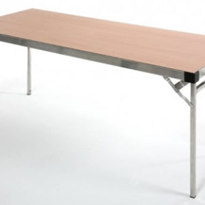 Arlene Large Lightweight Aluminium Banqueting Table With Beech Top - Fully Assembled