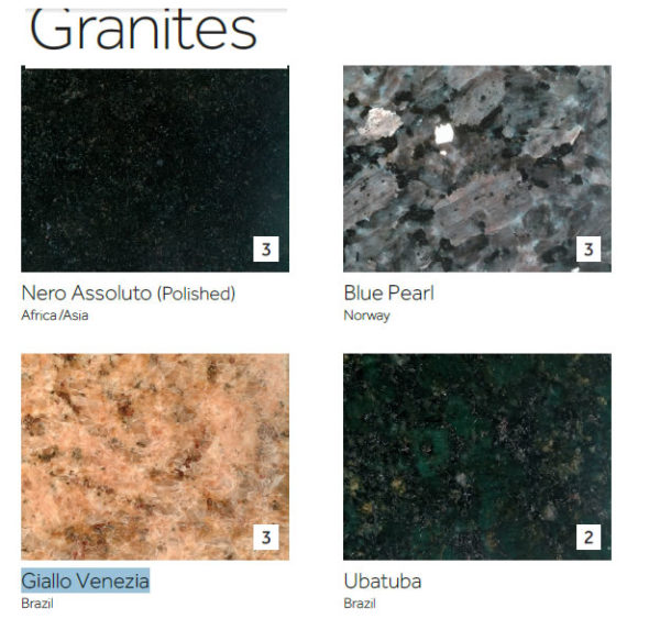Free Granite And Marble Table Tops Samples 10 Colours Available