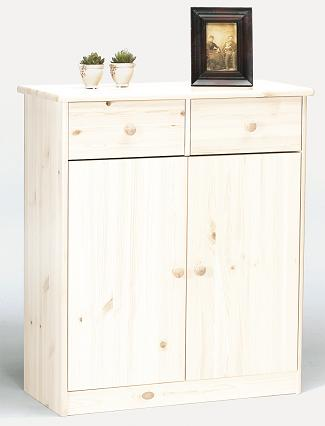 Farm Style Sideboard - 2 Door 2 Drawer Whitewash