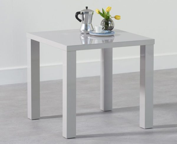 Para Small High Gloss Square Modern Kitchen Dining Table - Space Saver Light Or Dark Grey