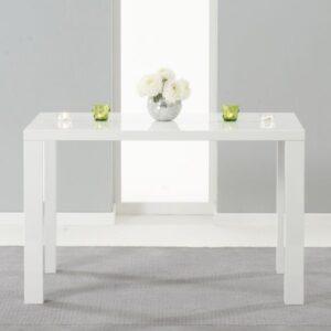 Para Large White High Gloss Rectangular Modern Kitchen Dining Table