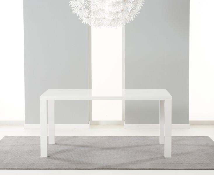 Para Large Long White High Gloss Rectangular Modern Kitchen Dining Table