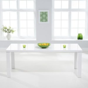 Para Extra Large White High Gloss Rectangular Modern Kitchen Dining Table - Various Sizes