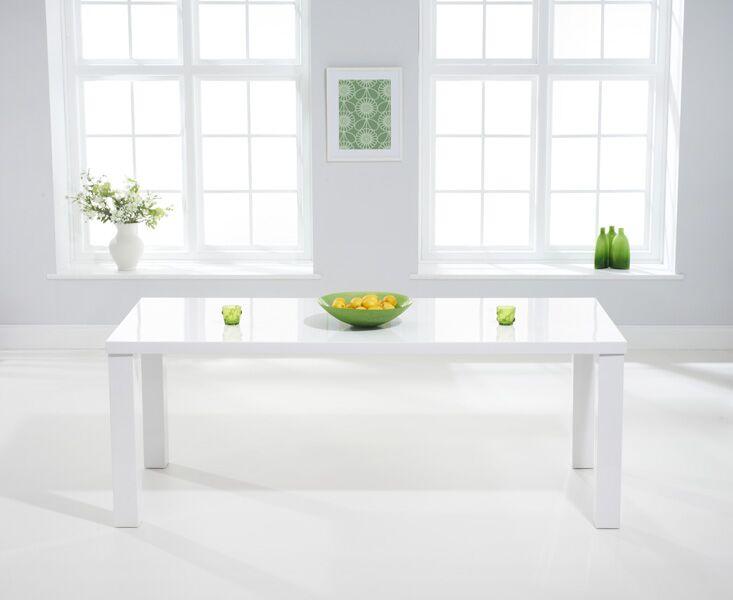 Para Extra Large White High Gloss Rectangular Modern Kitchen Dining Table