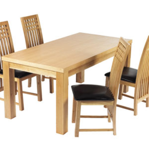 Milene Solid Oak Dining Table