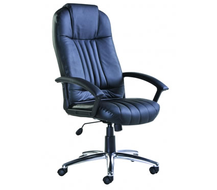 Mona Leather Swivel Office Chair