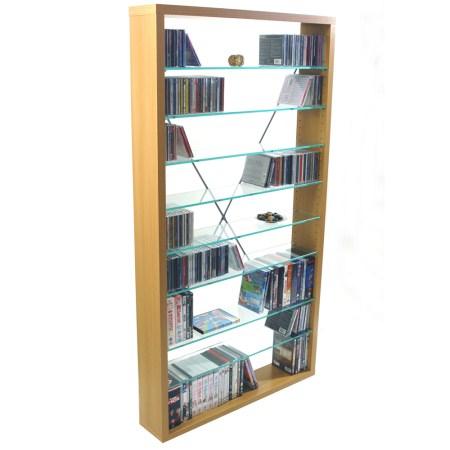 Zari Beech And Glass Storage Shelves