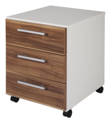 Mate Filing Cabinet - 3 Drawer Walnut