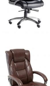 Bayvon Executive Office Chair - Soft Feel Leather Black Or Brown
