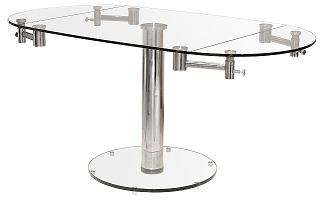 Tobson Glass Large Extending Dining Table Oval