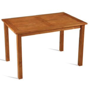 Basponi Large Outdoor Garden Dining Table Wooden Rectangular Top 1200 X 800Mm Fully Assembled Robina Wood