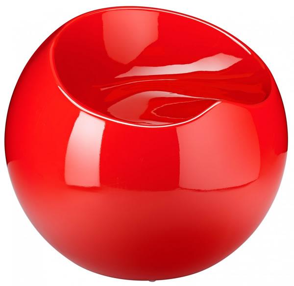 Resone Retro Ball Stool Chair Red Modern