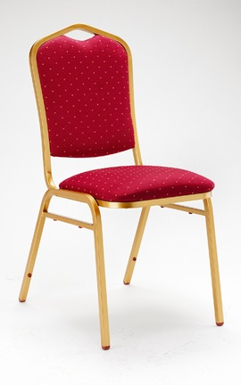 Aly Stacking Banqueting Chair - Steel And Padded
