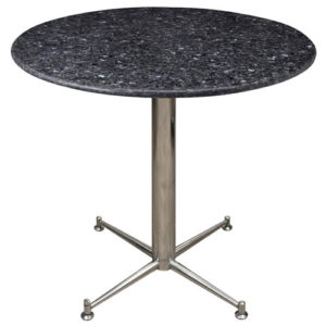 Payson Round Dining Kitchen Table Chrome or Stainless Steel Frame With Choice of Granite