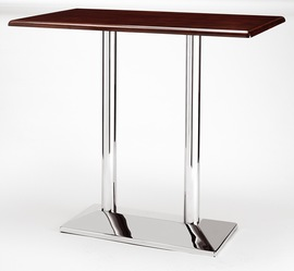 Dirk Twin Tall Poseur Table - Rectangle - Chrome
