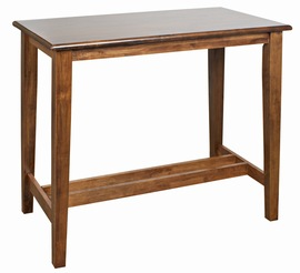 Flank Wood Frame Tall Poseur Bar Kitchen Table Rectangle Top