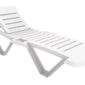 Sanobi White Garden Sun Lounger Recliners Pack Of 2