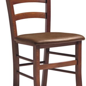 Ryland Beech Side Chair With Upholstered Seat