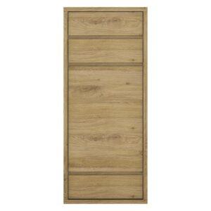 Tiamaria Glazed Wood 1 Door 3 Drawer Cupboard