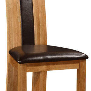 Shirall Solid Oak Dining Kitchen Chair With Padded Seat