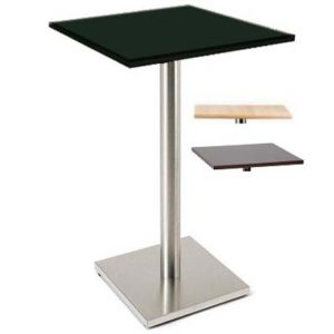 Sitty Tall Kitchen Bar Poseur Table Brushed Steel Frame