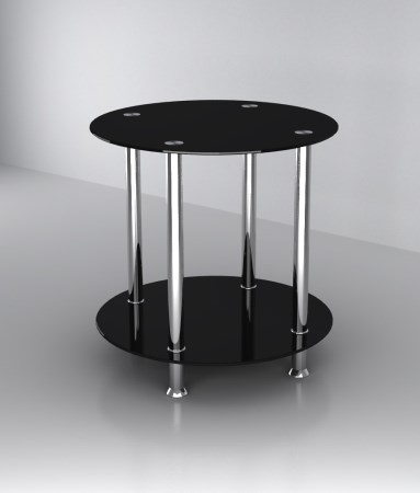 Fitz Side Table - Glass And Stainless Steel