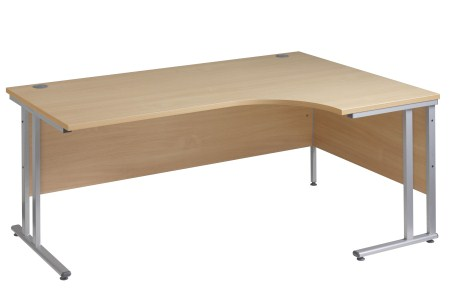 Sata Cantilever Curved Desk - 1600/1800