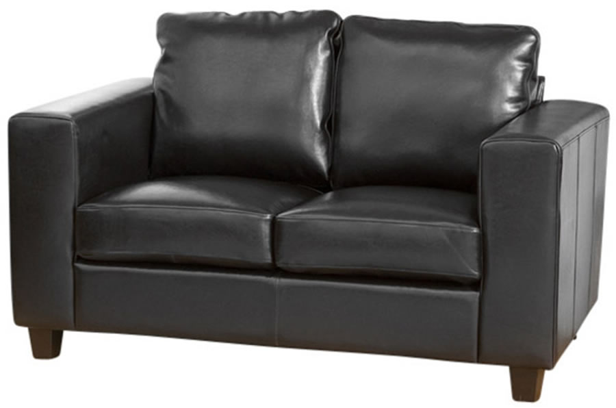 Frieda Quality Leather Two Seater Sofa With Choice Of Colours Quick Delivery