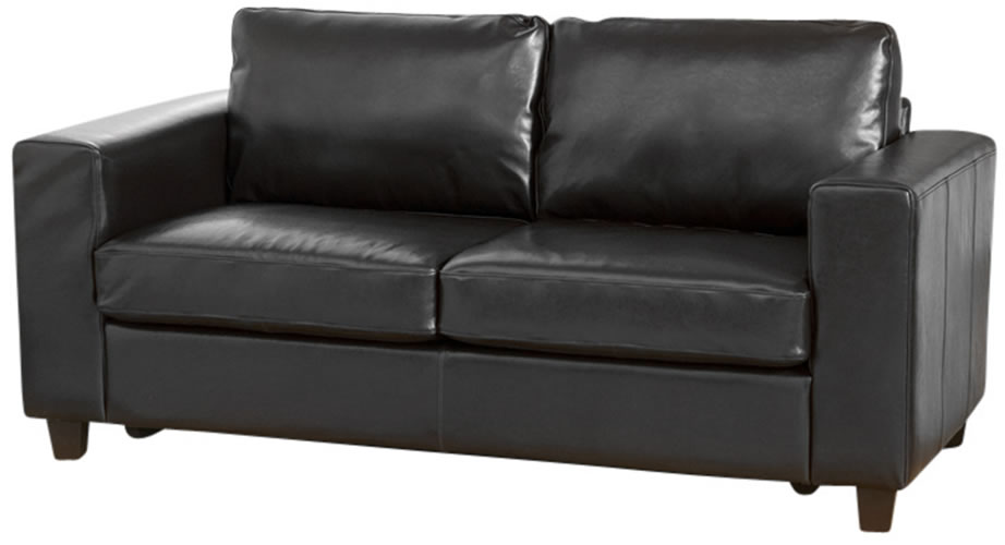 Frieda Quality Black Leather Sofa Three 3 Seater Chair With Choice Of Colours Quick Delivery