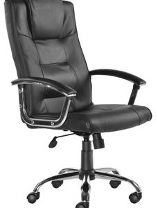 Echo Executive Office Chair Black Or Cream Leather