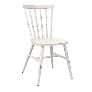 Salient Aluminium Retro Side Chair With Rustic Effect