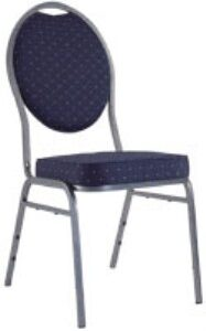 Nadia Steel Banqueting Chair - Padded
