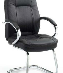 Amat Leather Office Chair Cantilever