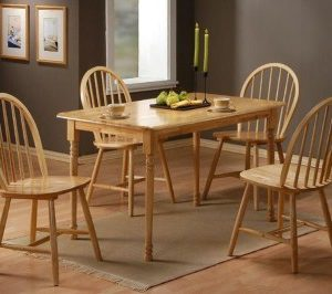 Sutra Wood Dining Table And 4 Chairs