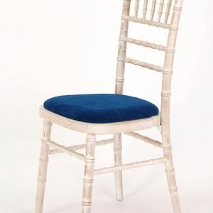 Tyne Chair Stacking Chairs - Limewash Frame - Seat Pad Included Fully Assembled